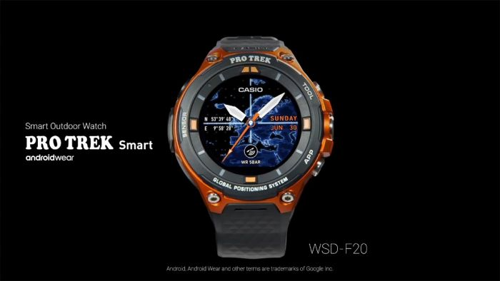 casio smartwatches pro trek